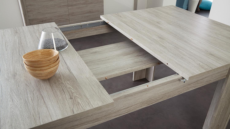 esszimmer luneo tischgruppe portofino grau buche massiv. Black Bedroom Furniture Sets. Home Design Ideas