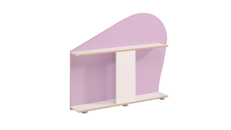 bett milas kinderbett in wei lila mit regal und schubkasten. Black Bedroom Furniture Sets. Home Design Ideas