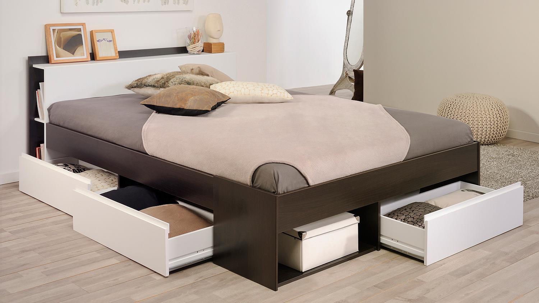 bett mosta stauraumbett schlafzimmerbett kaffee braun wei. Black Bedroom Furniture Sets. Home Design Ideas