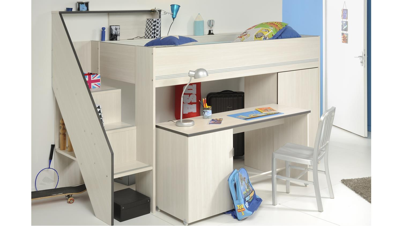 GRAVITY 1 Esche Struktur mit Schreibtisch