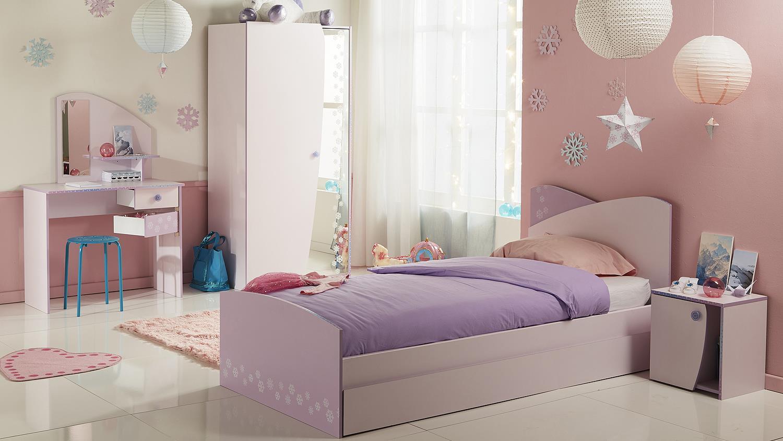 Kleiderschrank cristal 7 schrank in rosa und lila mit for Kinderzimmer zum jugendzimmer gestalten