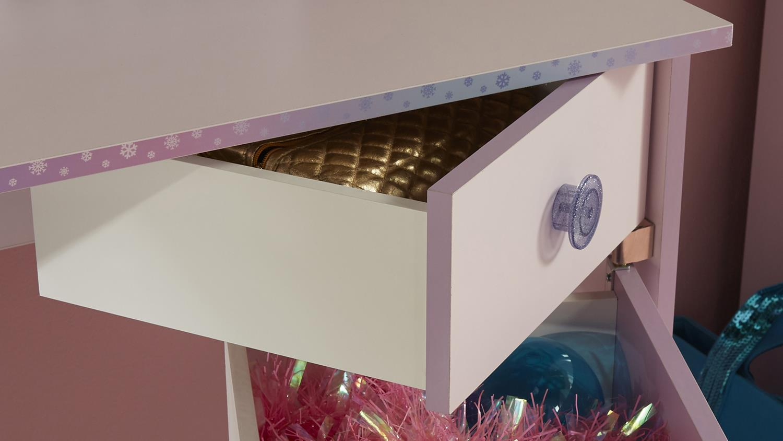 Set CRISTAL 2 Schrank Bett Nako Schreibtisch in rosa lila