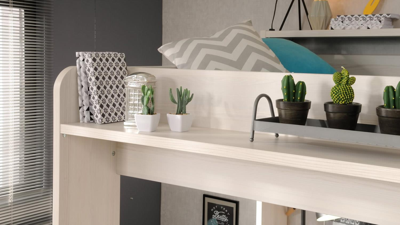 HIGHER Etagenbett Schreibtisch und Schrank in Nordische Esche