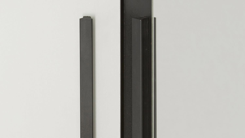 schuhschrank escarpin garderobenschrank schwarz und wei mit spiegel. Black Bedroom Furniture Sets. Home Design Ideas