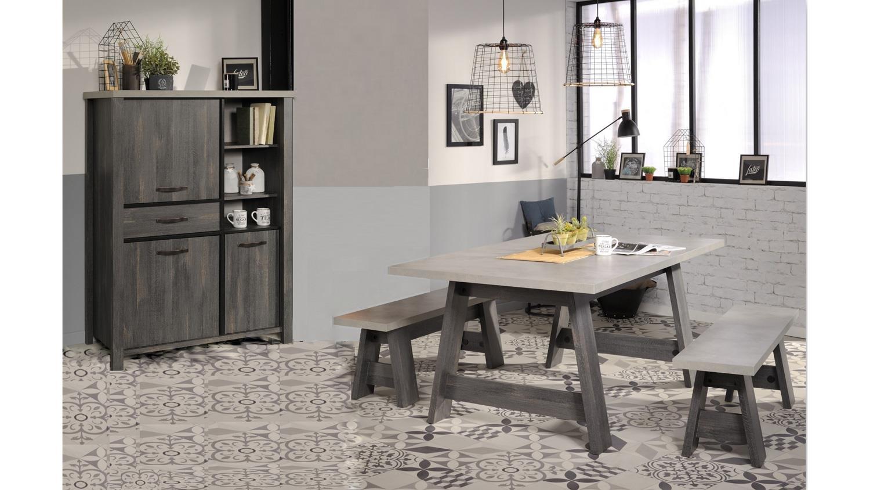 highboard maxwell 10 schrank kommode anrichte in eiche grau parisot. Black Bedroom Furniture Sets. Home Design Ideas