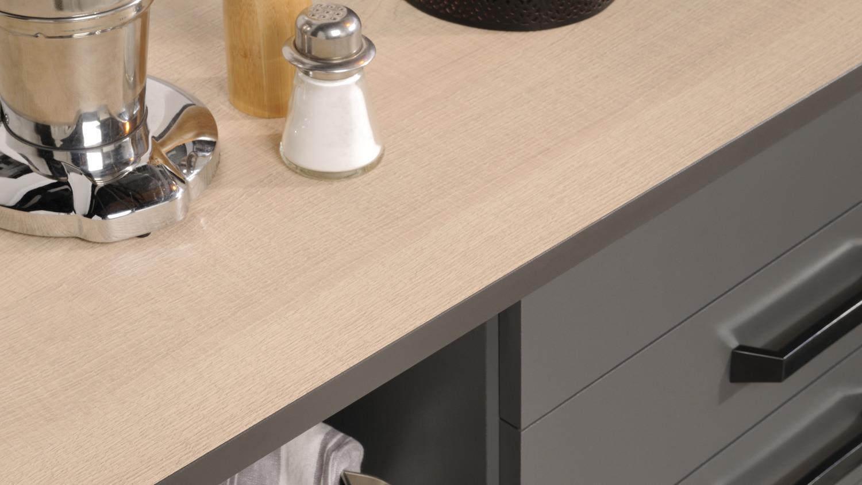 k che moove 1 einbauk che k chenzeile grau und eiche hell 7 teilig. Black Bedroom Furniture Sets. Home Design Ideas