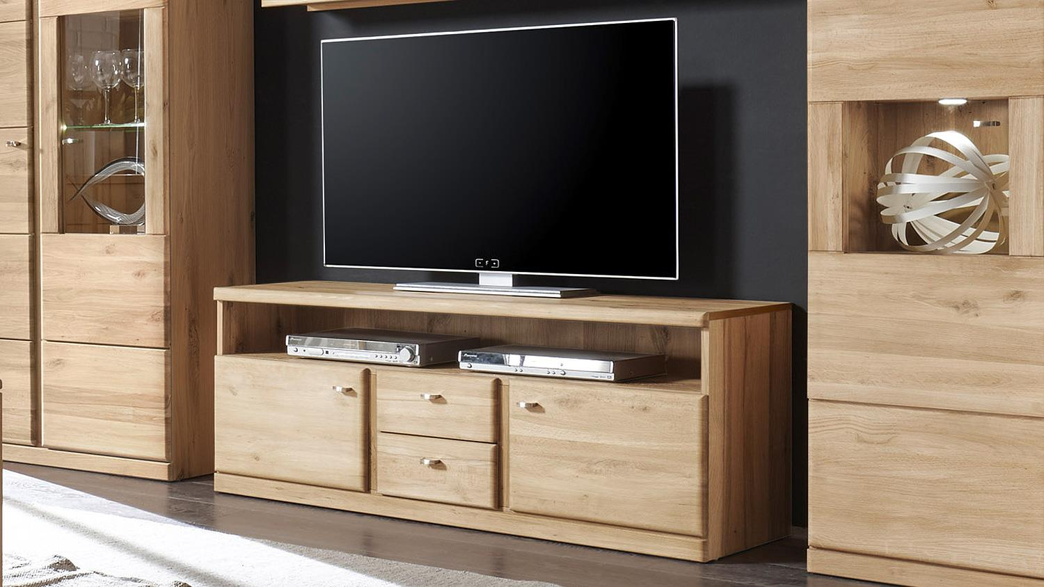 tv board 1 terano in wildeiche bianco teilmassiv. Black Bedroom Furniture Sets. Home Design Ideas