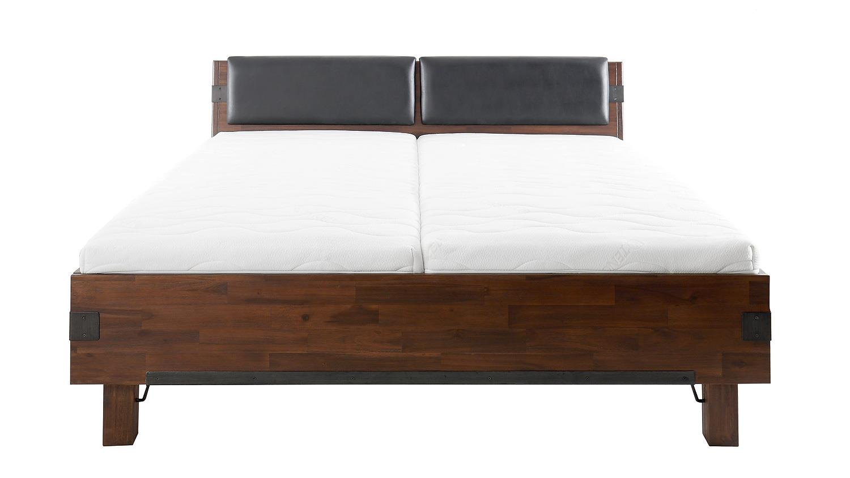 bett quado akazie massiv s gerau geb rstet braun 180x200. Black Bedroom Furniture Sets. Home Design Ideas