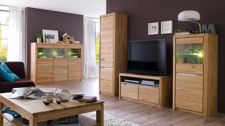 tv board 3 florenz wildeiche bianco massiv softclose. Black Bedroom Furniture Sets. Home Design Ideas