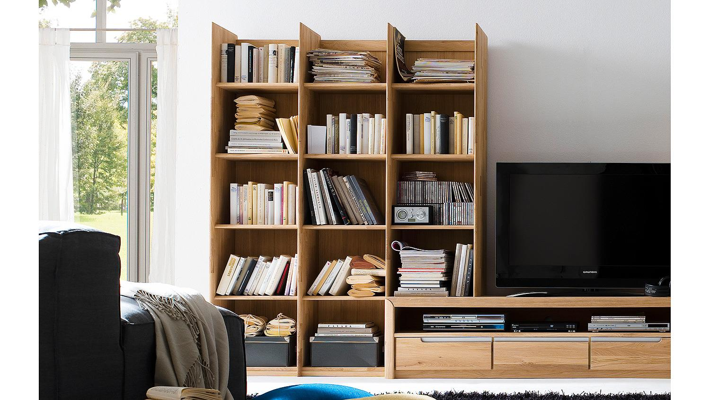regal 2 florenz in wildeiche bianco massiv links. Black Bedroom Furniture Sets. Home Design Ideas