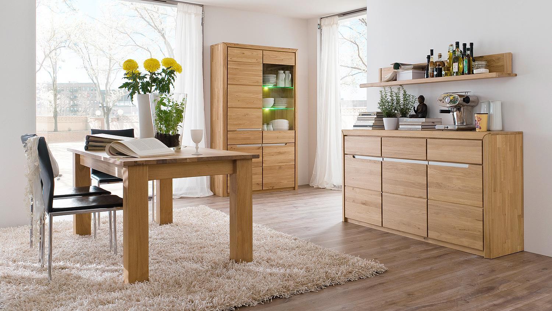 esstisch florenz wildeiche bianco massiv 180 260x90 cm. Black Bedroom Furniture Sets. Home Design Ideas