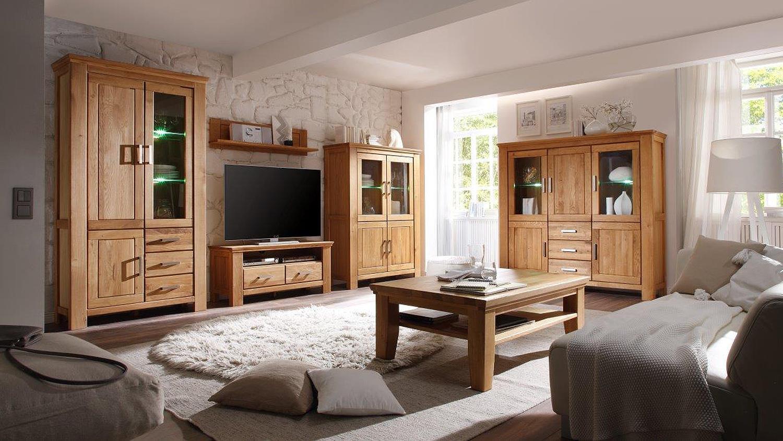 vitrine 1 riena in wildeiche teilmassiv inkl softclose. Black Bedroom Furniture Sets. Home Design Ideas