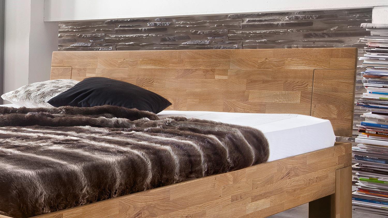 Bett Sara Schlafzimmerbett Bettgestell In Wildeiche Massiv 160x200 Cm