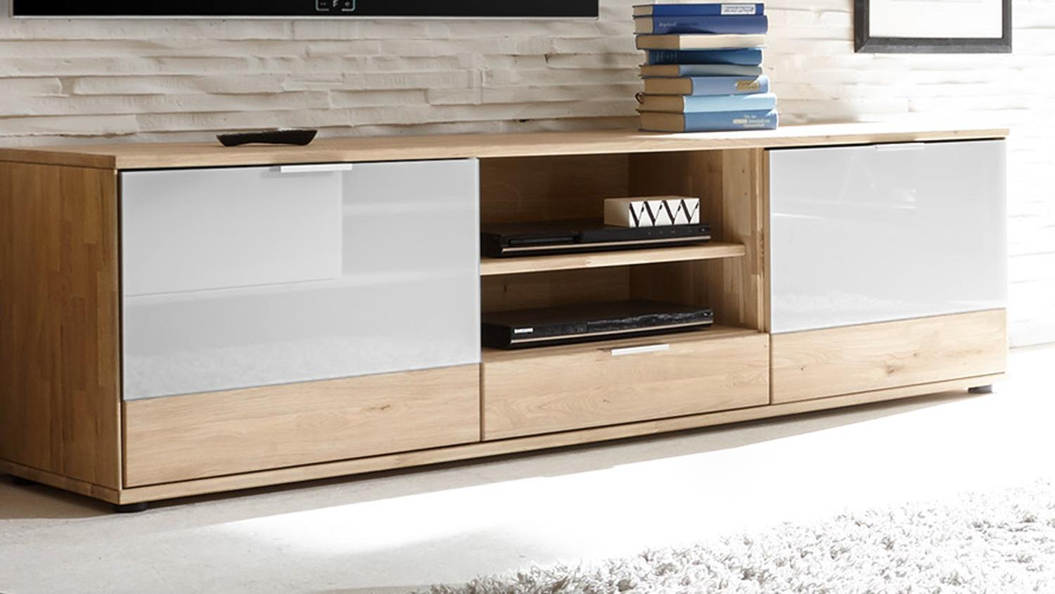 tv board como lowboard kommode in wildeiche massiv und. Black Bedroom Furniture Sets. Home Design Ideas