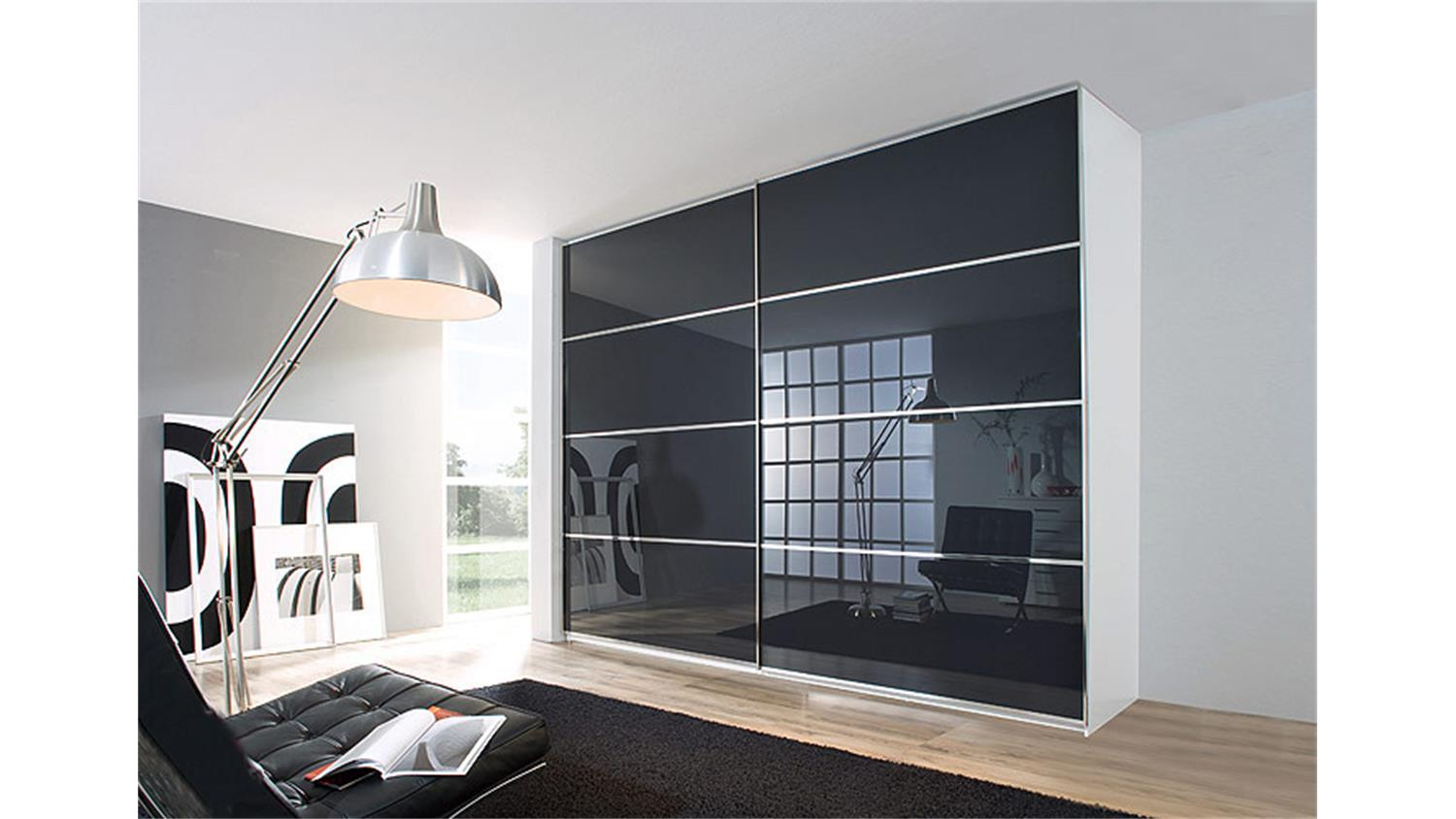 schwebet renschrank sandrin i schrank wei anthrazit 270 cm. Black Bedroom Furniture Sets. Home Design Ideas