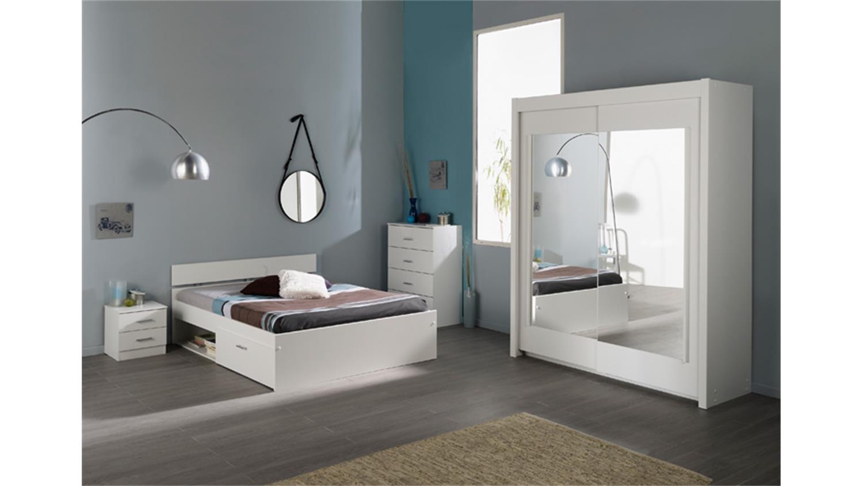 Bett INFINITY Kinderbett inkl Schubkasten in weiß 140x200