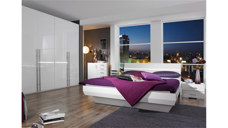bettanlage tira wei hochglanz doppelbett 180x200 cm. Black Bedroom Furniture Sets. Home Design Ideas