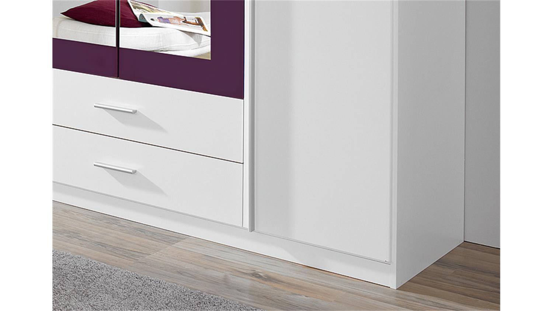 kleiderschrank krefeld wei und lila mit spiegel 181 cm. Black Bedroom Furniture Sets. Home Design Ideas