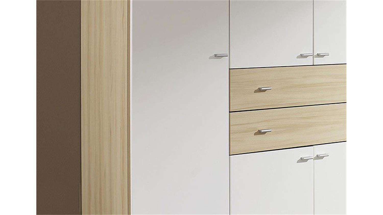 kleiderschrank landsberg wei und buche dekor. Black Bedroom Furniture Sets. Home Design Ideas