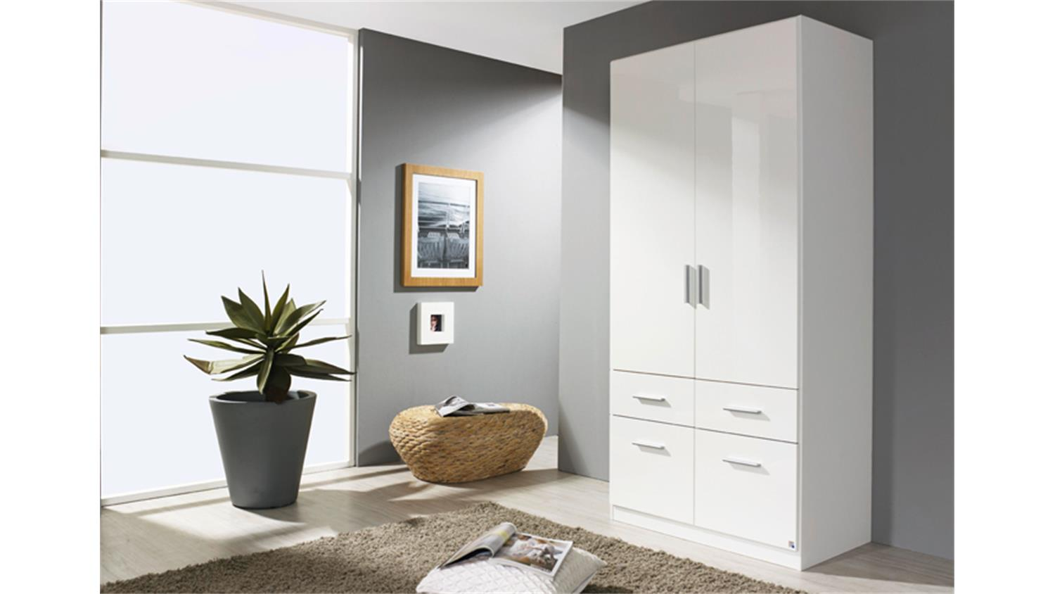kleiderschrank i celle wei hochglanz 91 cm breit. Black Bedroom Furniture Sets. Home Design Ideas