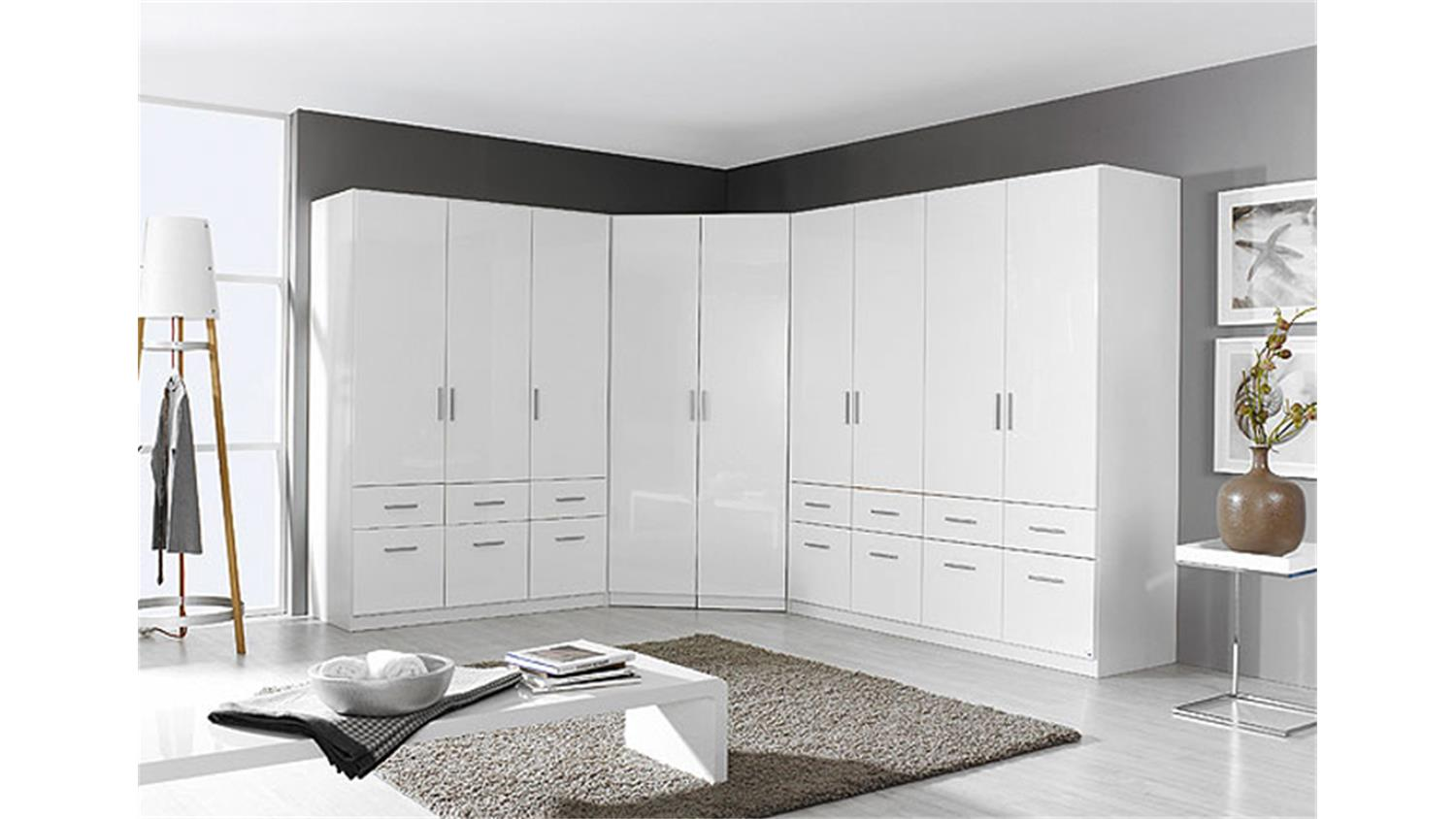 schrankkombi celle kleiderschrank schrank in wei hochglanz. Black Bedroom Furniture Sets. Home Design Ideas