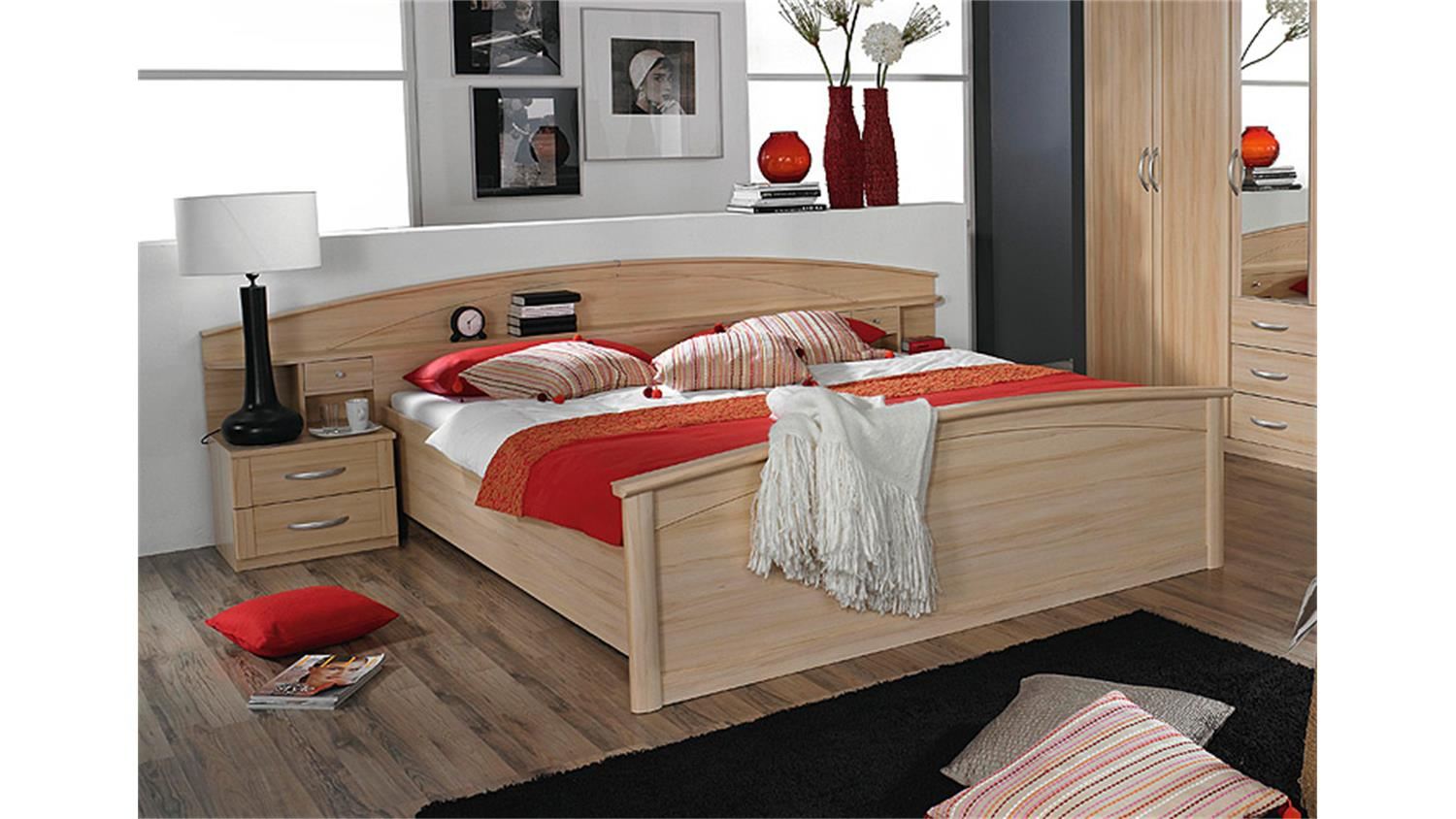 bettanlage ii catania bett doppelbett kommode buche natur. Black Bedroom Furniture Sets. Home Design Ideas
