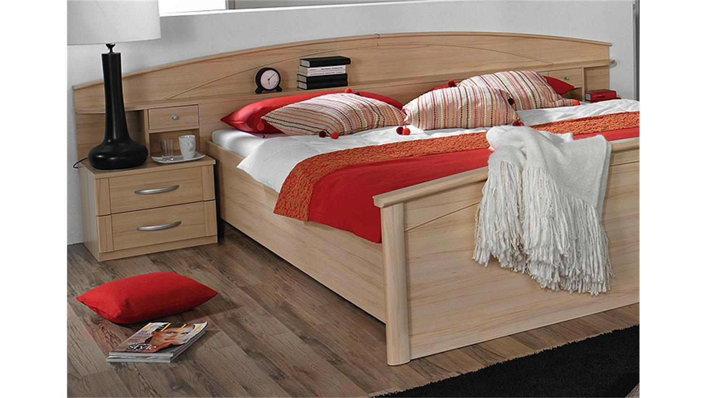 bettanlage ii catania bett doppelbett kommode buche natur. Black Bedroom Furniture Sets. Home Design Ideas