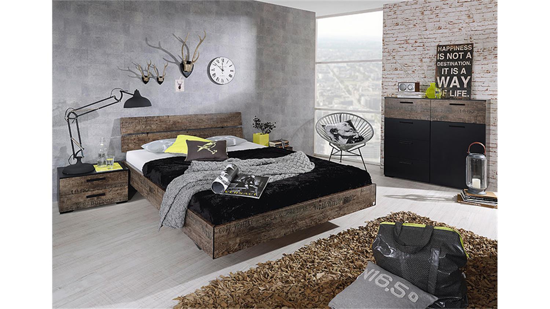 kommode sumatra sideboard vintage in schwarz und braun. Black Bedroom Furniture Sets. Home Design Ideas