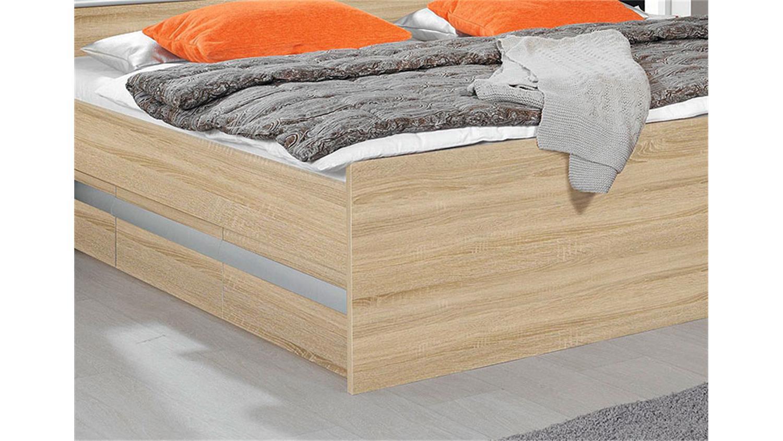 bett apulien schlafzimmerbett in sonoma eiche s gerau 180. Black Bedroom Furniture Sets. Home Design Ideas