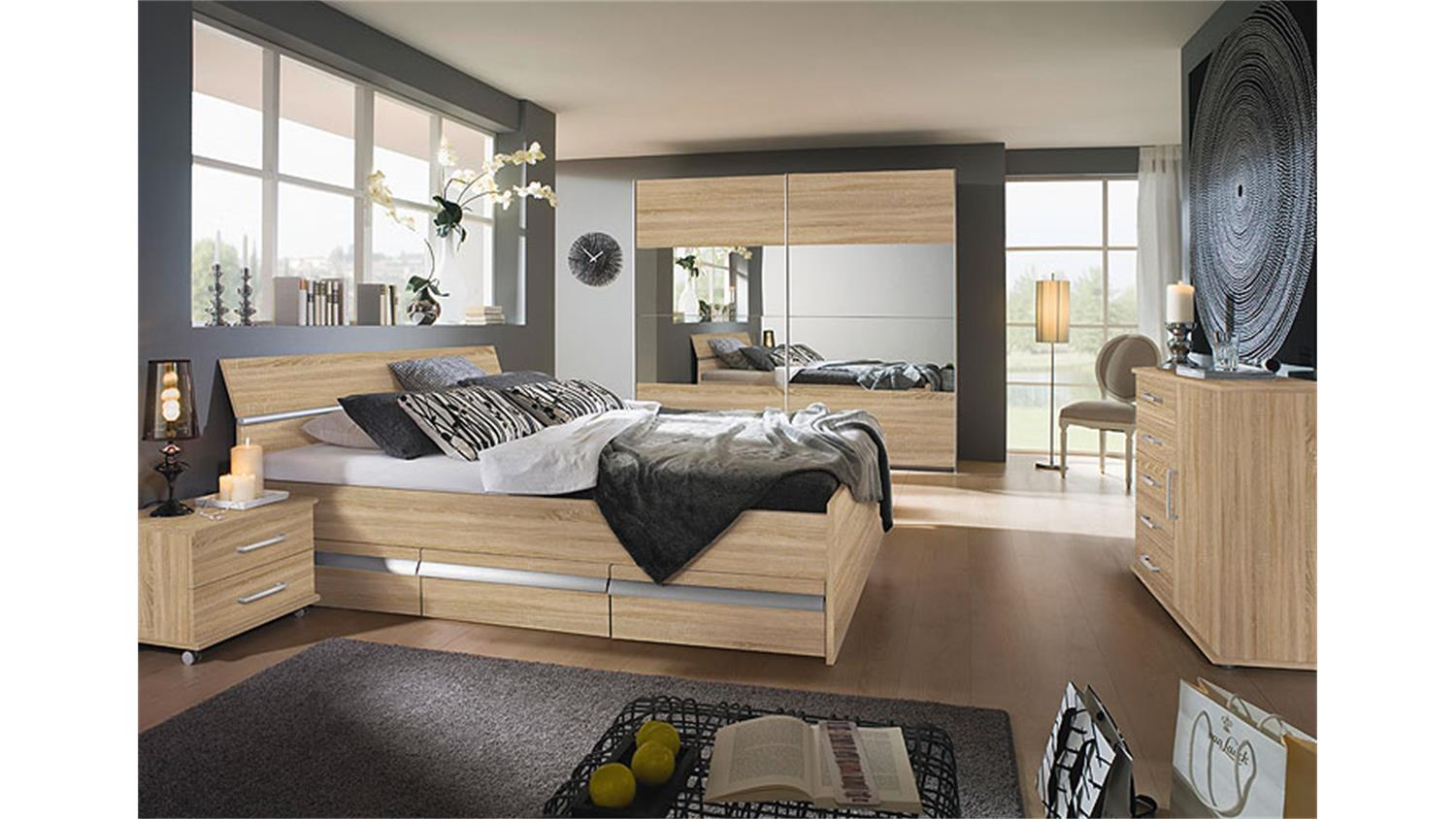 schlafzimmer iii apulien in sonoma eiche s gerau. Black Bedroom Furniture Sets. Home Design Ideas