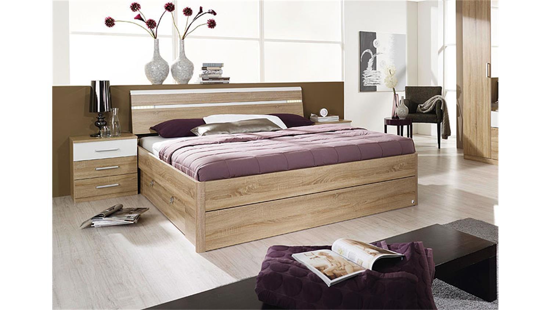 jugendbett 90 200 cm sonoma eiche grau kinderbett jugendliege bettliege bettgestell holz. Black Bedroom Furniture Sets. Home Design Ideas