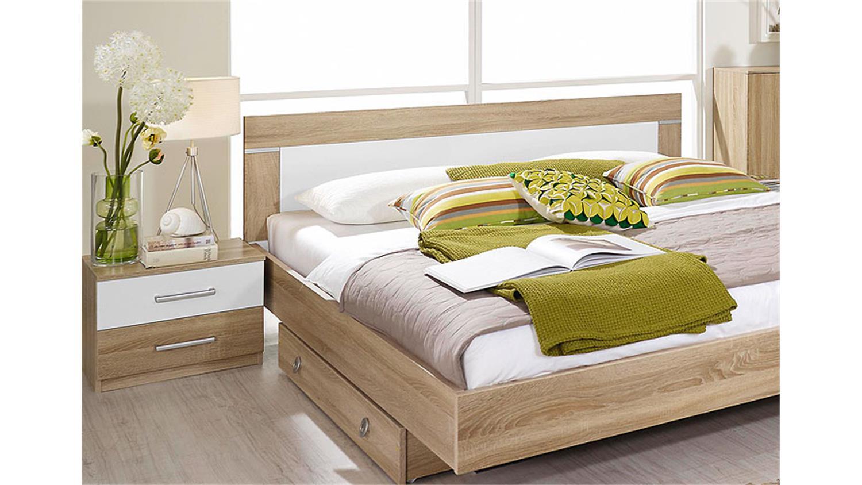 bettanlage venlo sonoma eiche s gerau wei 180. Black Bedroom Furniture Sets. Home Design Ideas