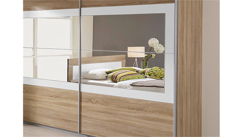 schwebet renschrank venlo sonoma eiche wei spiegel 226. Black Bedroom Furniture Sets. Home Design Ideas