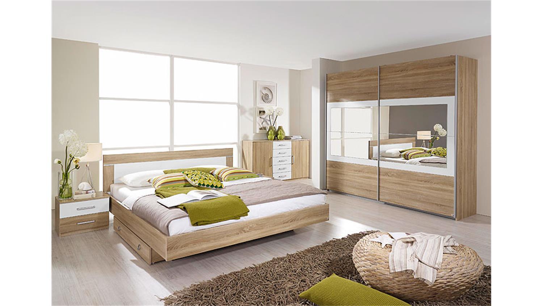 Schlafzimmerset Venlo Sonoma Eiche Sagerau Weiss