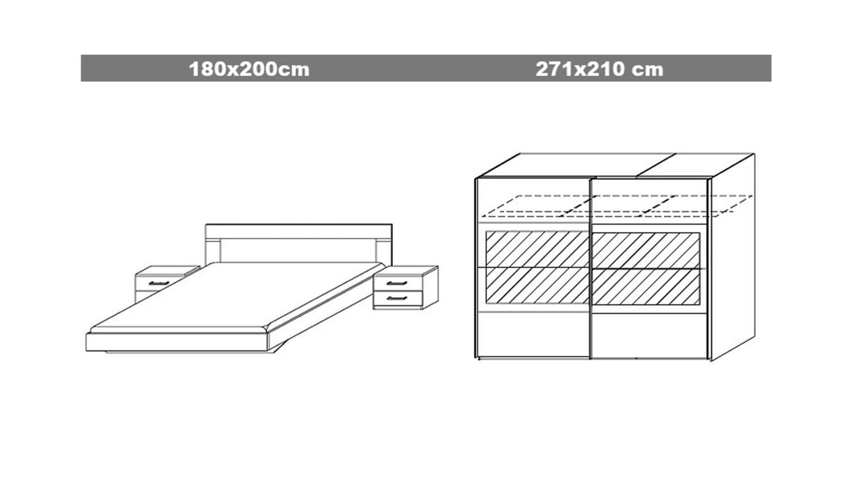 schlafzimmerset venlo sonoma eiche s gerau wei. Black Bedroom Furniture Sets. Home Design Ideas