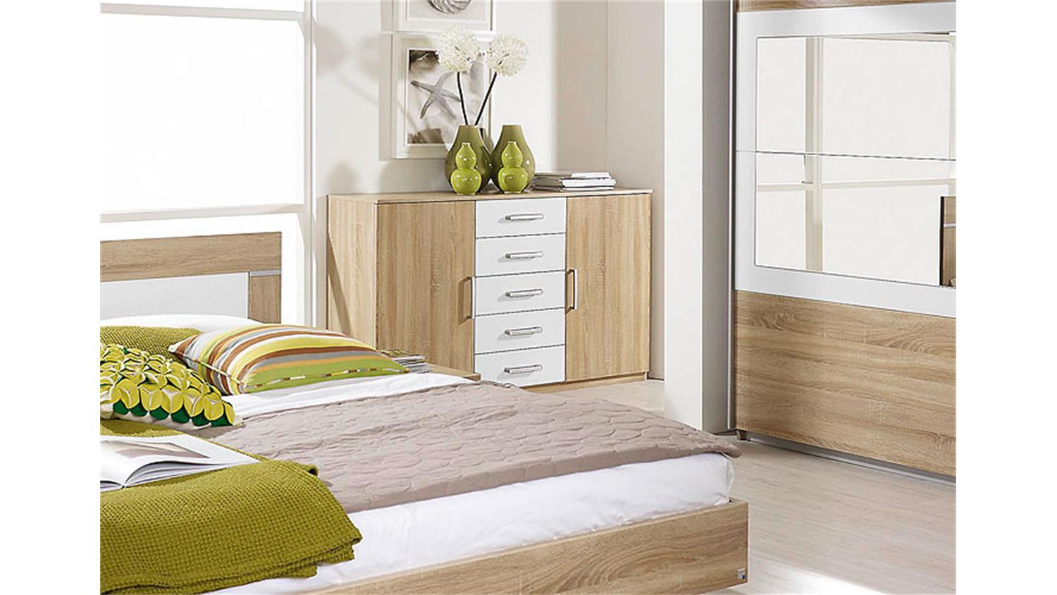 kommode venlo in sonoma eiche s gerau dekor und wei. Black Bedroom Furniture Sets. Home Design Ideas