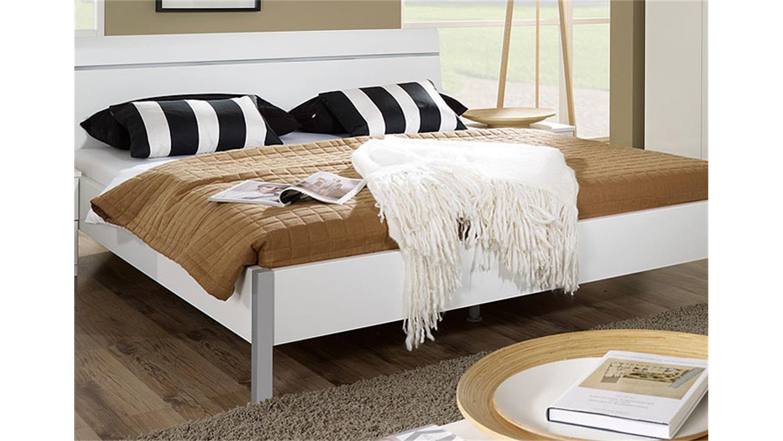 bett modena schlafzimmerbett doppelbett futonbett wei 180. Black Bedroom Furniture Sets. Home Design Ideas