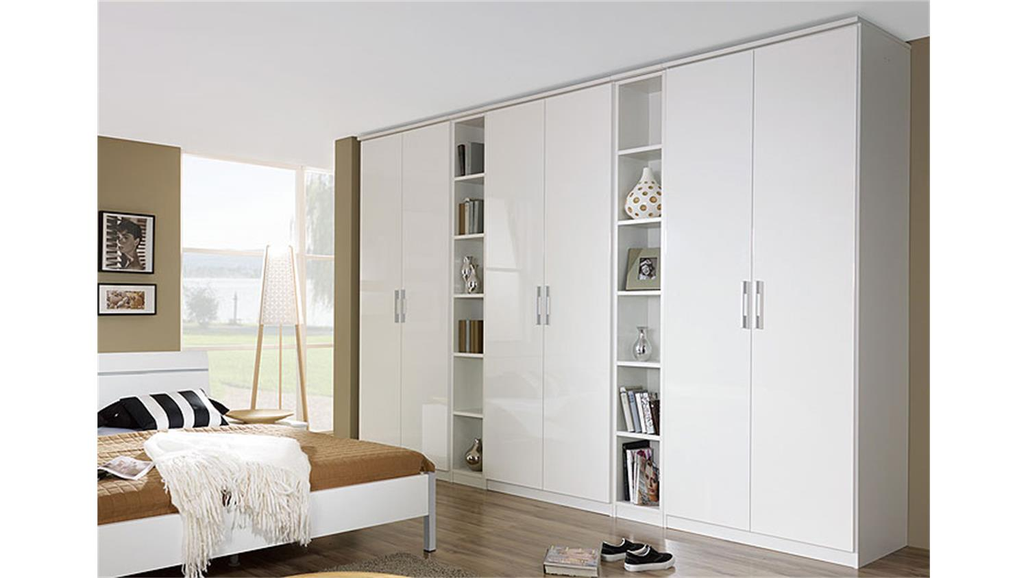 kleiderschrank modena wei hochglanz 339 cm. Black Bedroom Furniture Sets. Home Design Ideas