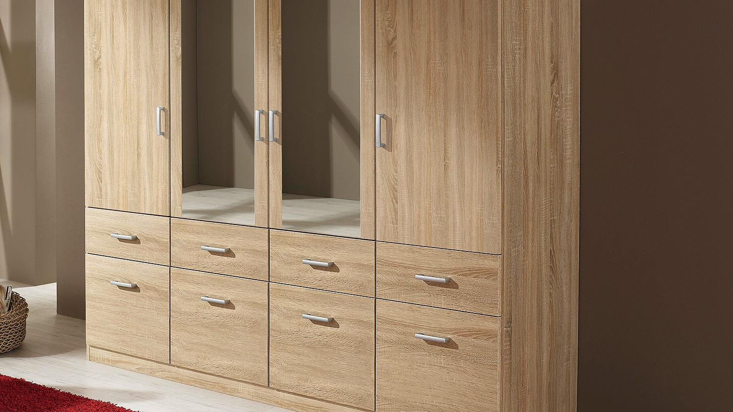 kleiderschrank bremen schrank sonoma eiche mit spiegel 181. Black Bedroom Furniture Sets. Home Design Ideas