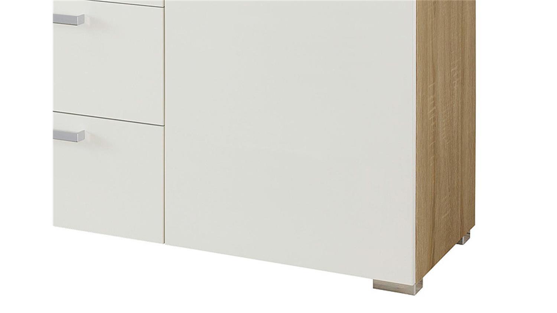 kommode 7 calero sonoma eiche s gerau wei und alu. Black Bedroom Furniture Sets. Home Design Ideas