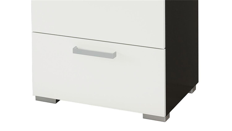 kommode 5 calero schwarz wei hochglanz und alu. Black Bedroom Furniture Sets. Home Design Ideas