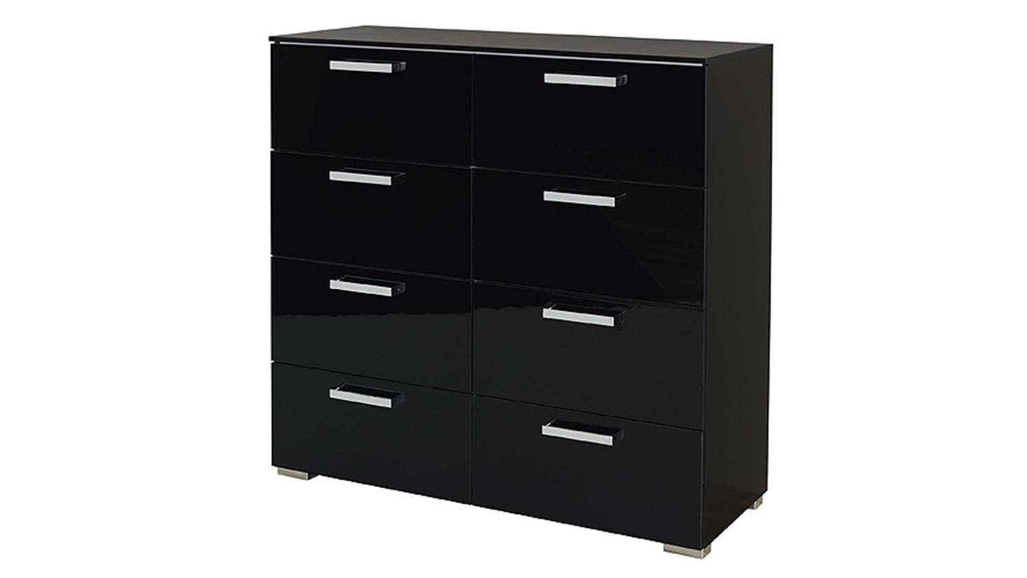 kommode calero vi schwarz front hochglanz. Black Bedroom Furniture Sets. Home Design Ideas