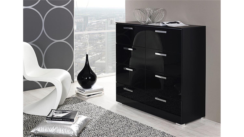 kommode calero vi schwarz front hochglanz. Black Bedroom Furniture Sets. Home Design Ideas