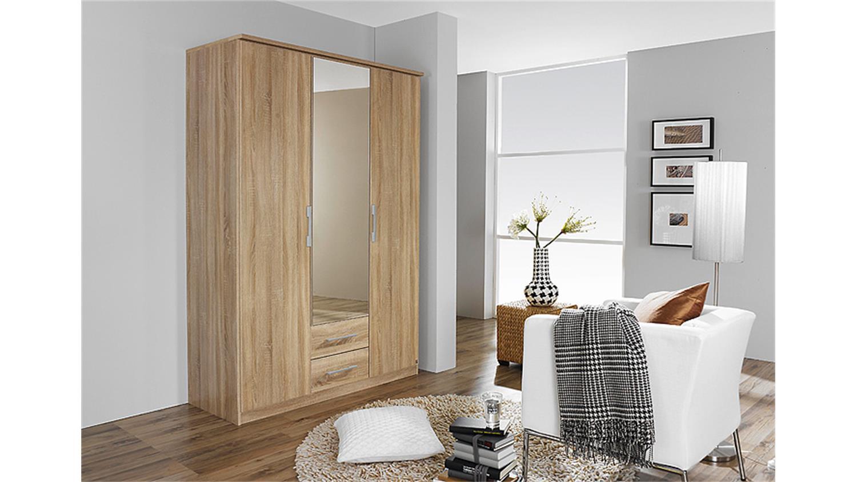 faltt renschrank gronau sonoma eiche mit spiegel b 136 h 199. Black Bedroom Furniture Sets. Home Design Ideas