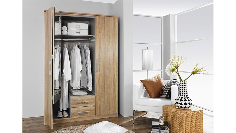 faltt renschrank gronau sonoma eiche mit spiegel b 136 h 212. Black Bedroom Furniture Sets. Home Design Ideas