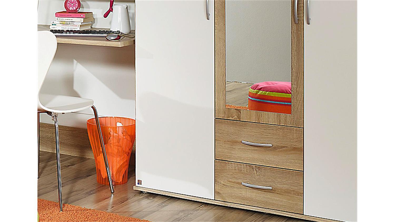 jugendzimmer set 3 emilio sonoma eiche und wei 4 tlg. Black Bedroom Furniture Sets. Home Design Ideas