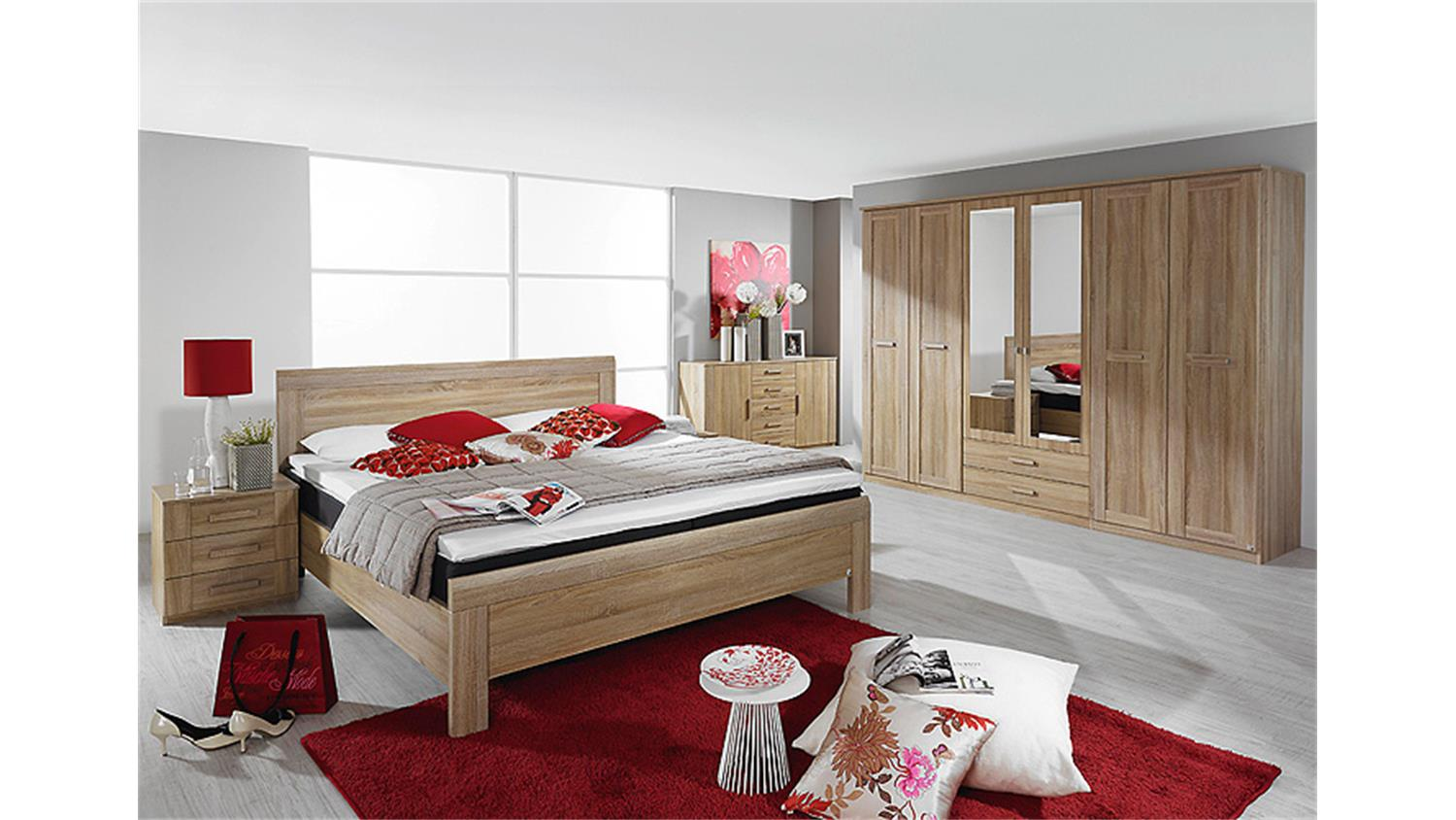 bett utrecht schlafzimmerbett in sonoma eiche 180x200 cm. Black Bedroom Furniture Sets. Home Design Ideas