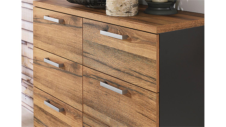 kommode wildeiche basaltgrau smash. Black Bedroom Furniture Sets. Home Design Ideas