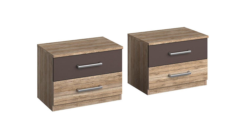bettanlage barcelona san remo eiche hell lavagrau 180x200. Black Bedroom Furniture Sets. Home Design Ideas
