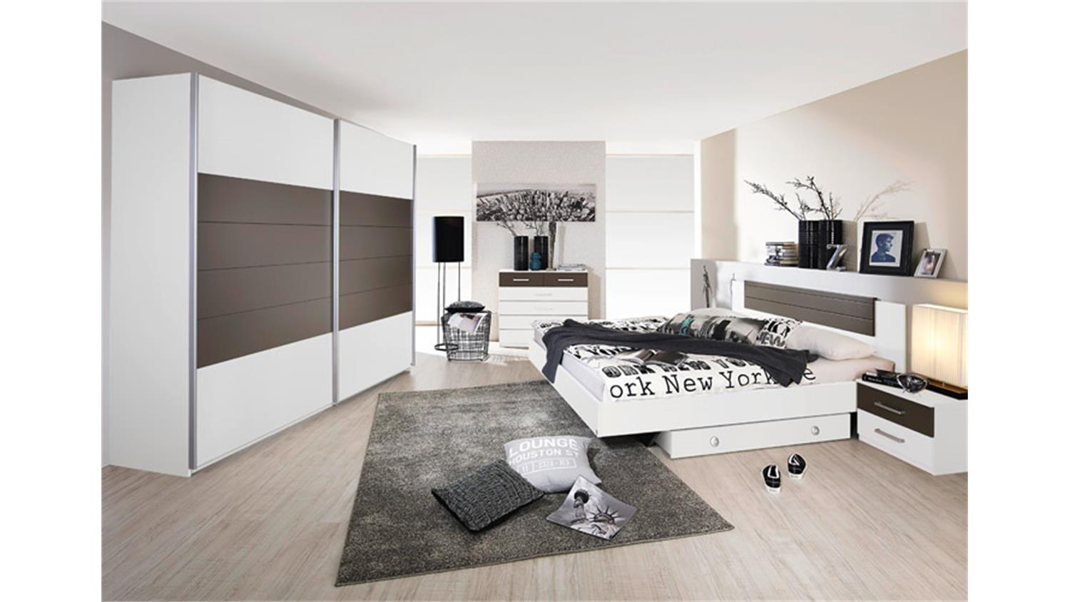 schlafzimmerset barcelona schlafzimmer in wei lavagrau. Black Bedroom Furniture Sets. Home Design Ideas